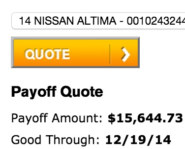 Month 32 - Nissan Altima 2014 Payoff
